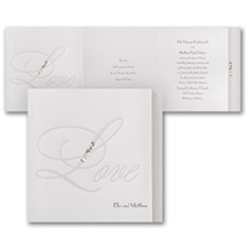 Modern wedding Invitation: Love Bling