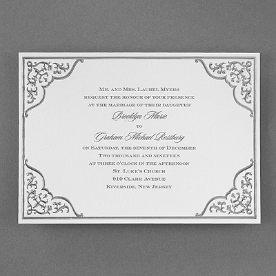 Silver Lace - Invitation