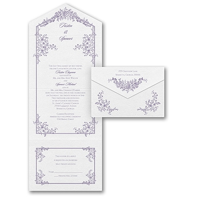 Romantic Roses - Seal 'n Send - White Texture