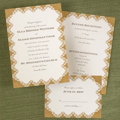 Burlap and Lace - ValStyle Invitation