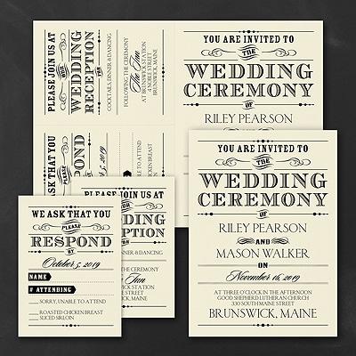 Vintage Nuptial - Ecru Sep n Send Invitation
