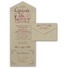 Seal and Send Invitation: Celebrate the Wedding