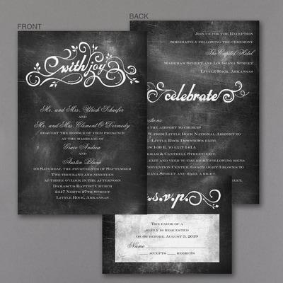 Chalkboard Charm - ValStyle Invitation