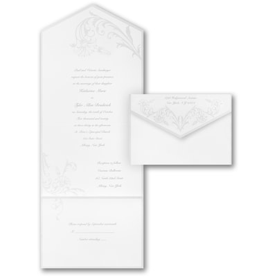 Art Deco Dazzle - Seal 'n Send - White