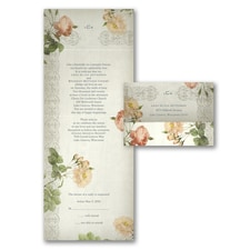 Seal and Send Invitation: Vintage Roses