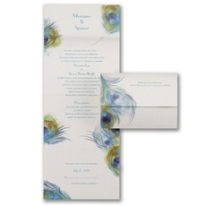 All In One Invitation: Peacock Profusion