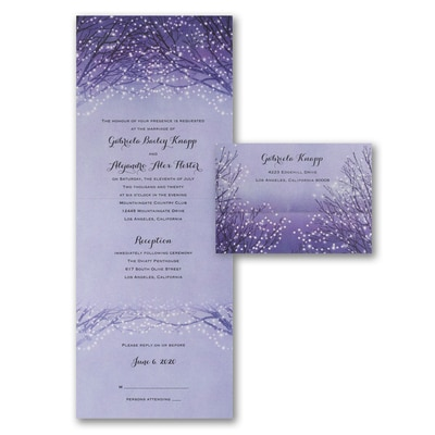Seal And Send Wedding Invitations.Shimmering Lights Seal N Send Wedding Invitations