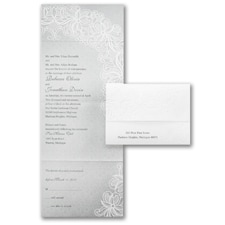 Seal and Send Invitation: Luxurious Lace
