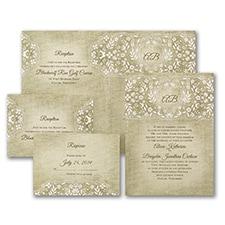 rustic invitation: Floral Burlap