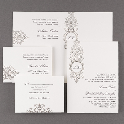 Silver Damask - Sep 'n Send