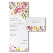 Seal and Send Invitation: Shimmer Roses