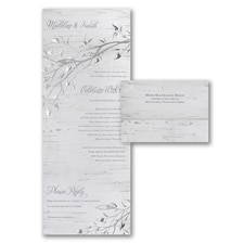 With RSVP Cards: Silver Bark