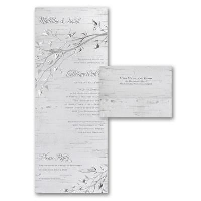 Silver Bark Seal N Send Wedding Invitations Staples