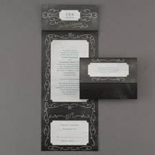 With RSVP Cards: Chalkboard Swirls