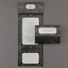Chalkboard Swirls - Seal and Send Invitation