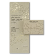 With RSVP Cards: Natural Gold