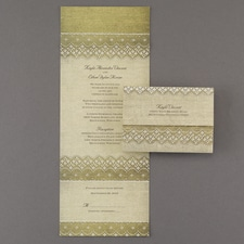 rustic invitation: Homespun Romance