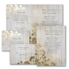 With RSVP Cards: Refined Nature