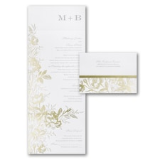 With RSVP Cards: Golden Garden