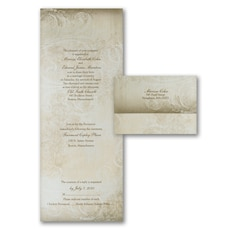 All In One Invitation: Victorian Flourish