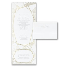 With RSVP Cards: Geometric Impressions
