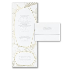 All In One Invitation: Geometric Impressions