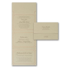 With RSVP Cards: Extravagantly Classic