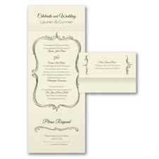 Seal and Send Invitation: Whimsical Frame