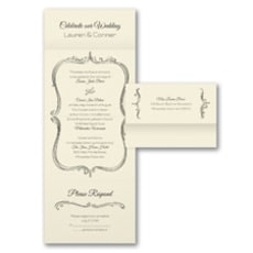 Whimsical Frame - Seal and Send Invitation
