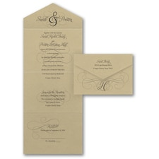 Vintage wedding invitation: Ampersand Calligraphy