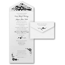 Retro Posies - Seal and Send Invitation