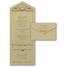 Monogram wedding invitation: Lovebird Monogram