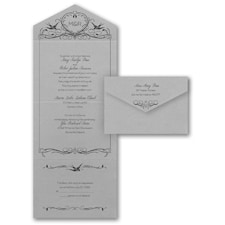 Lovebird Monogram - Monogram Invitation