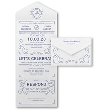 Seal and Send Invitation: Deco Monogram