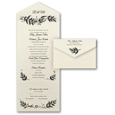 All In One Invitation: Delicate Ferns