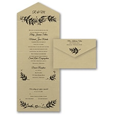 rustic invitation: Delicate Ferns