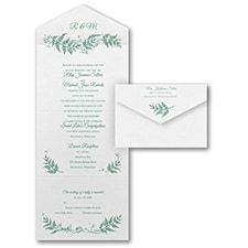 With RSVP Cards: Delicate Ferns