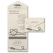rustic invitation: Tie That Knot