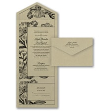 With RSVP Cards: Antique Flowers