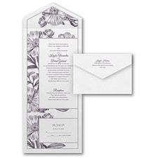 floral invitation: Antique Flowers