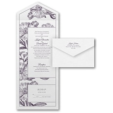 Antique Flowers  - Seal and Send Invitation