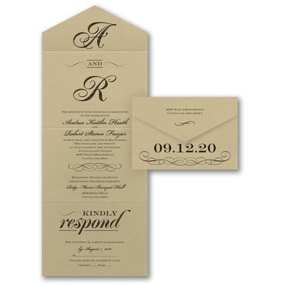 Seal And Send Wedding Invitations.Together Now Seal N Send Wedding Invitations Carlson