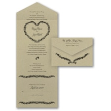 rustic invitation: Leafy Heart