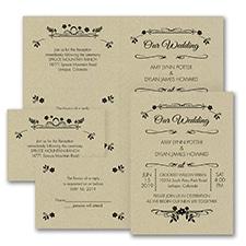 Wedding Flowers - Sep 'n Send Invitation - Kraft