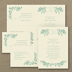 With RSVP Cards: Sweet Flowers