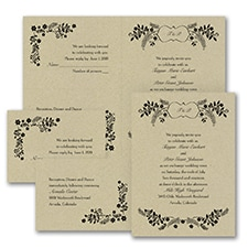 rustic invitation: Sweet Flowers