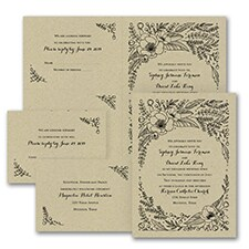rustic invitation: Flower Surround