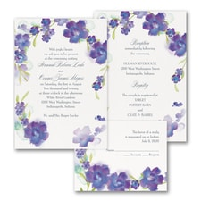 floral invitation: Watercolor Flowers