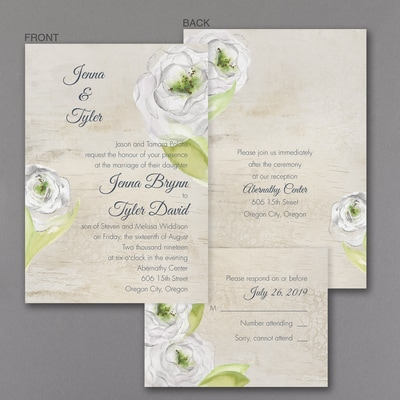 Artistic Blossoms - ValStyle Invitation
