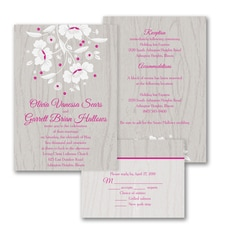 floral invitation: Woodsy Flowers